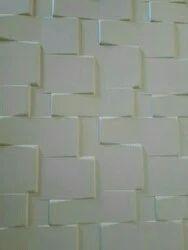 Elegant Decorative Wall Panels White PVC Panel, Size: 8*4