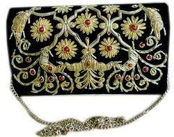 Zari Embroidery Clutch