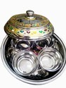 Meenakari Steel Dry Fruit Box