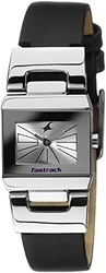 Fastrack Leather Analog Watch Black