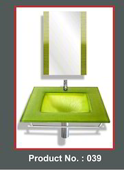Square Glass Basin