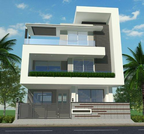 3d Front Elevation Design 3d Building Elevation: 3d Home Elevation Design