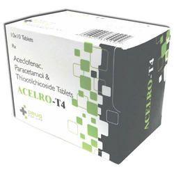 Aceclofenac 100mg Paracetamol 325 Thiocholchicoside 4mg