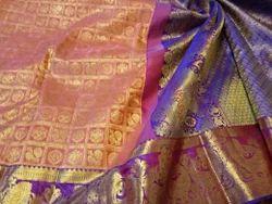Bridal Wear Kanchi Silk Hamsa Buta Saree