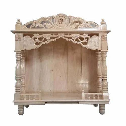 Attractive Look Sagwan And Teak Ply Home Wooden Mandir Id 12618239712