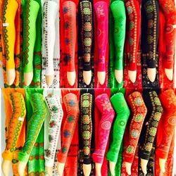 Side Print Leggings With Dupatta