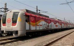 Outdoor Delhi Metro Train & Station Advertising