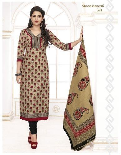 7405017f68 Beige Cotton Unstitched Salwar Suit Material Women Dress at Rs 380 ...