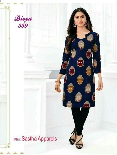 Printed and Plain Kurti