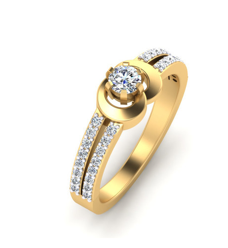 Beautiful Gold Engagement Ring at Rs piece