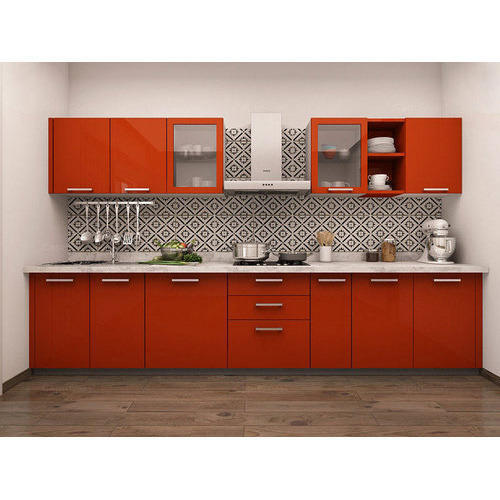Modern Modular Kitchen Manufacturer From: Straight Line Modular Kitchen At Rs 260000 /unit