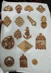 MDF Wooden Button