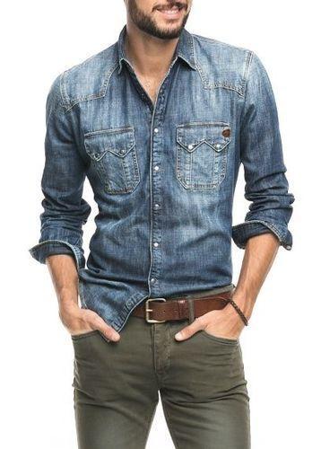 Men Denim Shirt Rs 300 Piece Dealsfive Id 11873077897