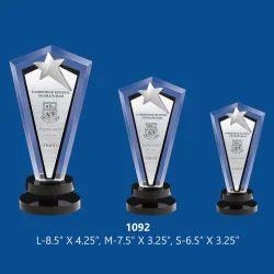 Three Sizes Star Acrylic Trophies