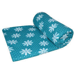 Floral Print Polar Fleece Blanket