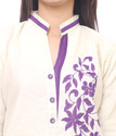 Leaf Embroidered Kurti