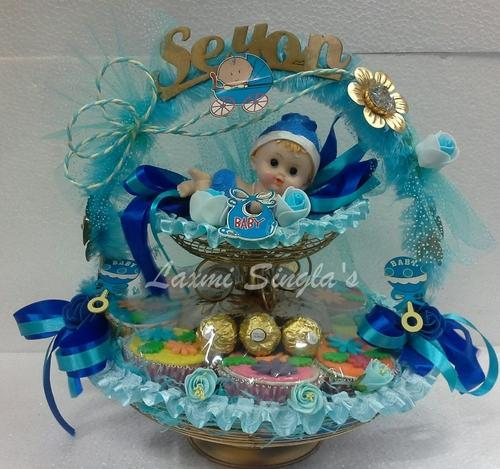 Baby Shower Return Gift Basket   Boy