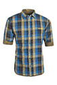 Blue, Beige And Black Checked Reversible Shirt