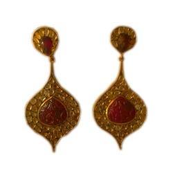 Earring Type Ruby Stone