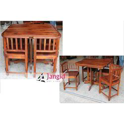 Jangid Art and Crafts Indian Sheesham Wooden Dining Table, Size: 90x90x77 cms