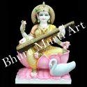 Marble Saraswati Maa Statue