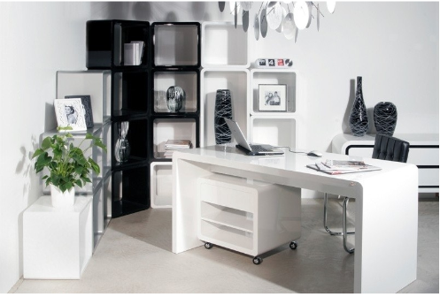 Office Furniture White Office Table Manufacturer from New Delhi