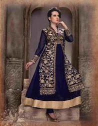 Navy Blue,fancy Designer Anarkali Suit
