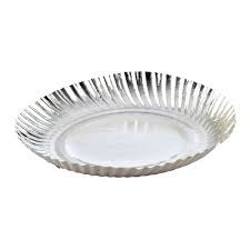 Silver Plastic Coated Paper Plate  sc 1 st  IndiaMART & Silver Plastic Coated Paper Plate Kagaz Ki Plate ???? ?? ...