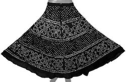 Black Bandhej Skirt
