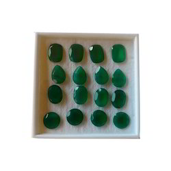Natural Green Onyx Stone, For Jewelry