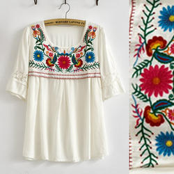 embroidered ladies shirt