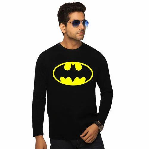 7552f835e Mens Black Printed Full Sleeve T-Shirts at Rs 180  piece