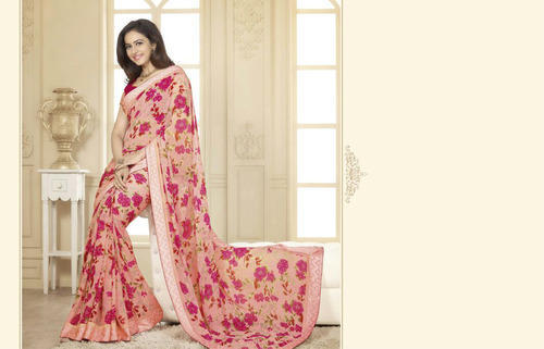 073ff44cf9 Designer Chiffon Saree at Rs 1200 /piece | शिफॉन साड़ी ...