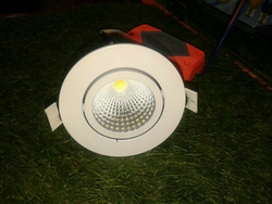 Aluminium and Ceramic Round LED COB Light, 15-18 Watt
