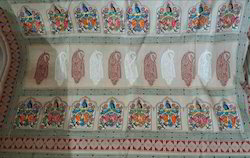Fancy Hand Painted Bengal Tant Saree