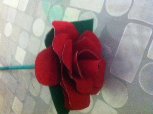 Velvet paper rose flowers at rs 30 each paper flower id velvet paper rose flowers mightylinksfo