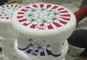 Round Plastic Bathroom Stool