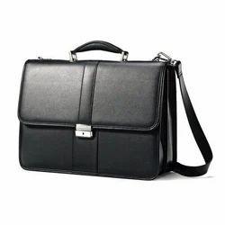Black Leather Laptop Executive Bags, Capacity: 20 L