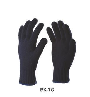 2b4890717 Full Finger Poly-Cotton Black Knitted Gloves, Rs 7 /pair   ID ...