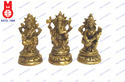 Lord Ganesh, Laxmi & Saraswati Sitting on RD. Lotus Base