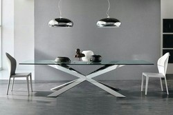Silver Stainless Steel Table, Size (Feet): 3*5
