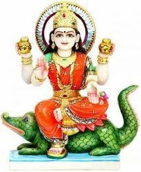Narmada Mata Marble Statue