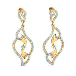 14k Golden Diamond Earring