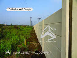 RCC Folding Concrete Boundary Compound Wall