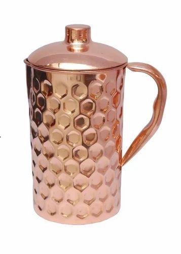 Copper Diamond Jug