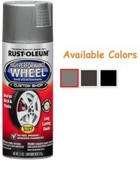 Rust Oleum High Performance Wheel Spray Paints