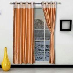 Plain Silk Window Curtain