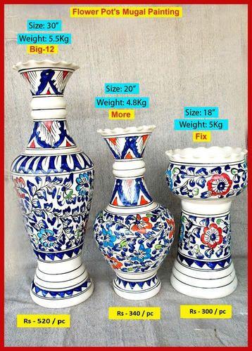 265 & Ceramic Flower Pots Mughal Painting