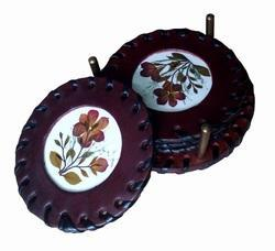 Medieval Leather Tea Coaster