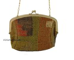 Assorted Hand Woven Wool Jute Durri Frame Clutch